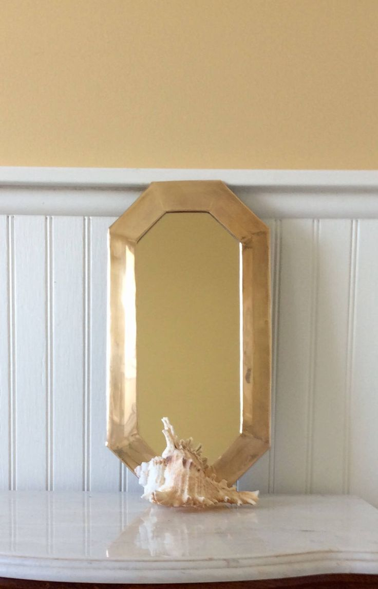 Vintage Brass Octagon Mirror, Mid Century, Chinoiserie, Coastal, Nautical, Statement Wall Decor by YellowHouseDecor on Etsy https://www.etsy.com/listing/534492479/vintage-brass-octagon-mirror-mid-century