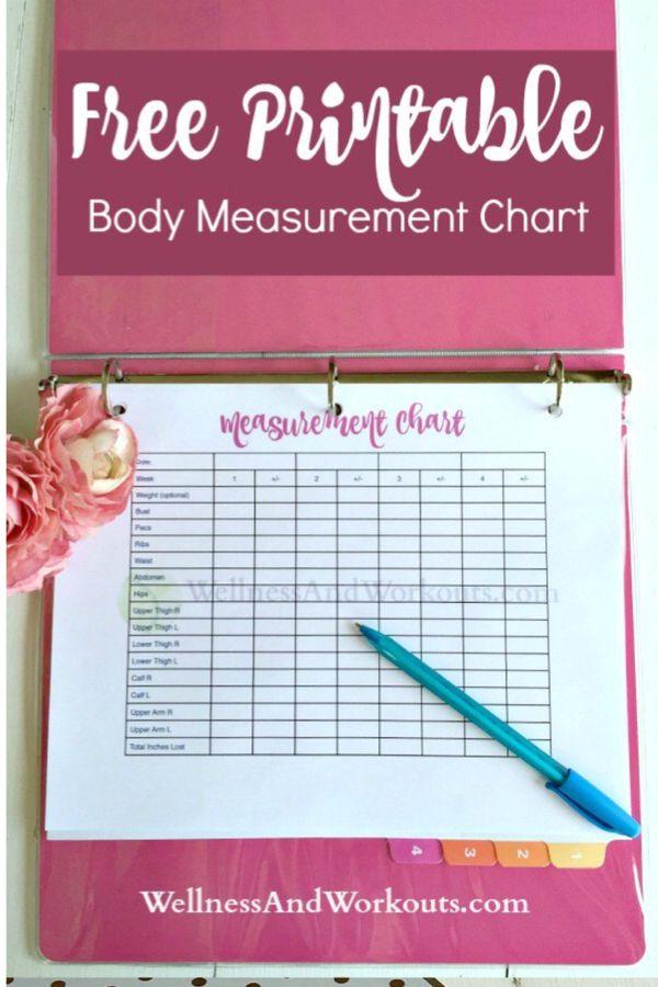 free printable body measurement chart body measurement chart and chart