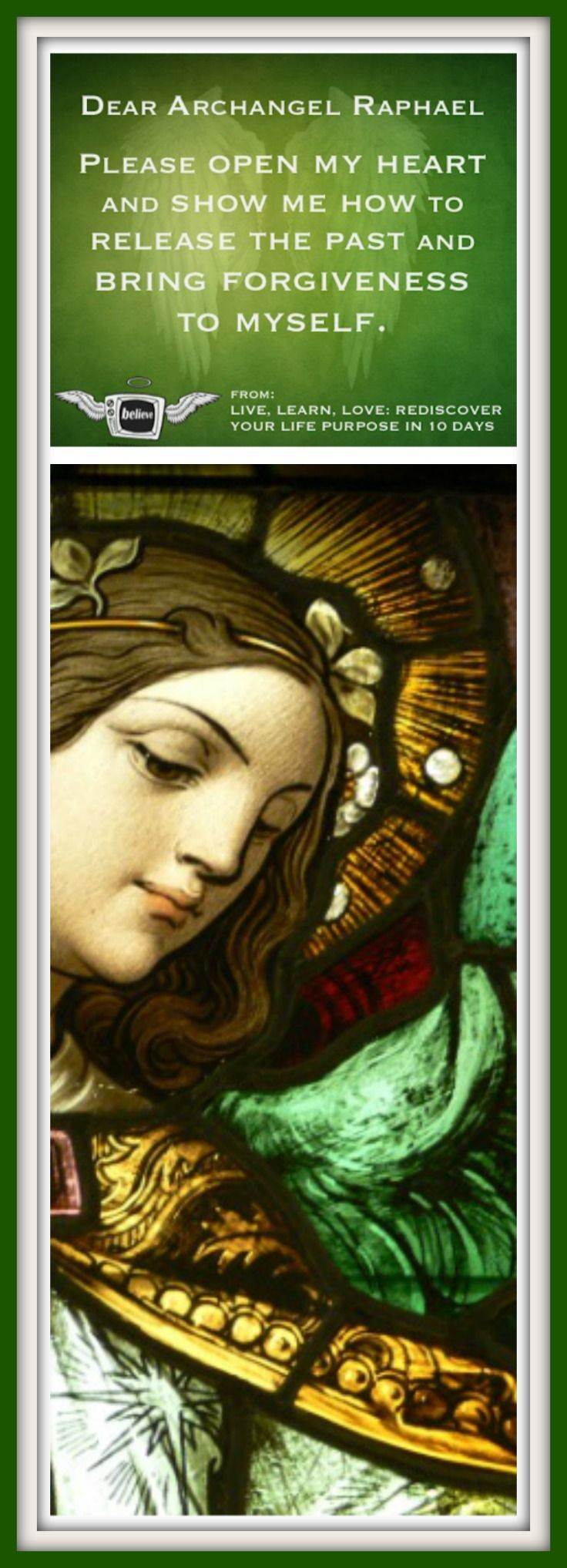 "Give yourself the GIFT of 2 MINUTES: ""Prayer to Archangel Raphael to Release Past Hurts."" Just CLICK on the pin!  Audio from HOW TO CONNECT WITH ANGELS Full Interview & Other Segments: #glitchmovie #raphael #angel"