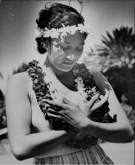 Hula dancer Salome Pickard of the Royal Hawaiian Girls Glee Club.