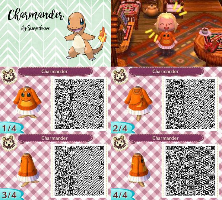Animal Crossing New Leaf qr code cute charmander glumanda