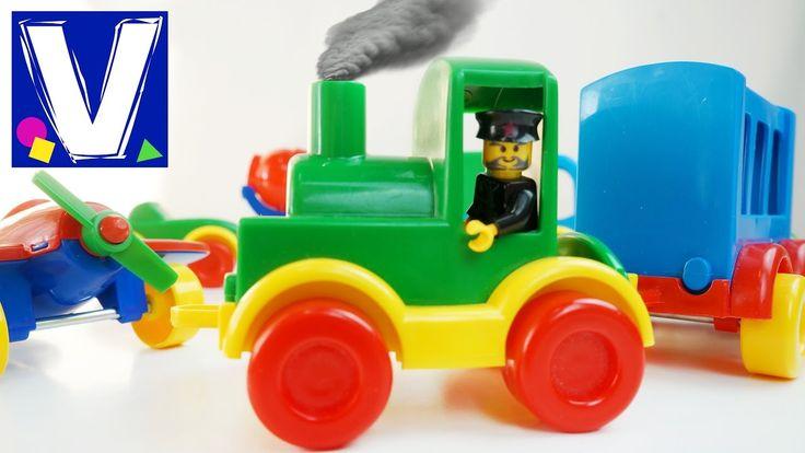 Видео для детей с игрушками Wader. Игрушечные машинки и паровозик из них. Обзор от Vlad TV. Мы пополнили нашу коллекцию на 8 машинок, самолет и вертолет. Рас...