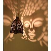 Designer Buddha Lamp- Copper Black Shape Made Of Soft Steel And Copper Black V0010