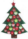 #Casaecucina #8: Brauns Heitmann 82016 - Calendario dell'avvento a forma di albero di Natale con palline da riempire, 97 x 75 cm