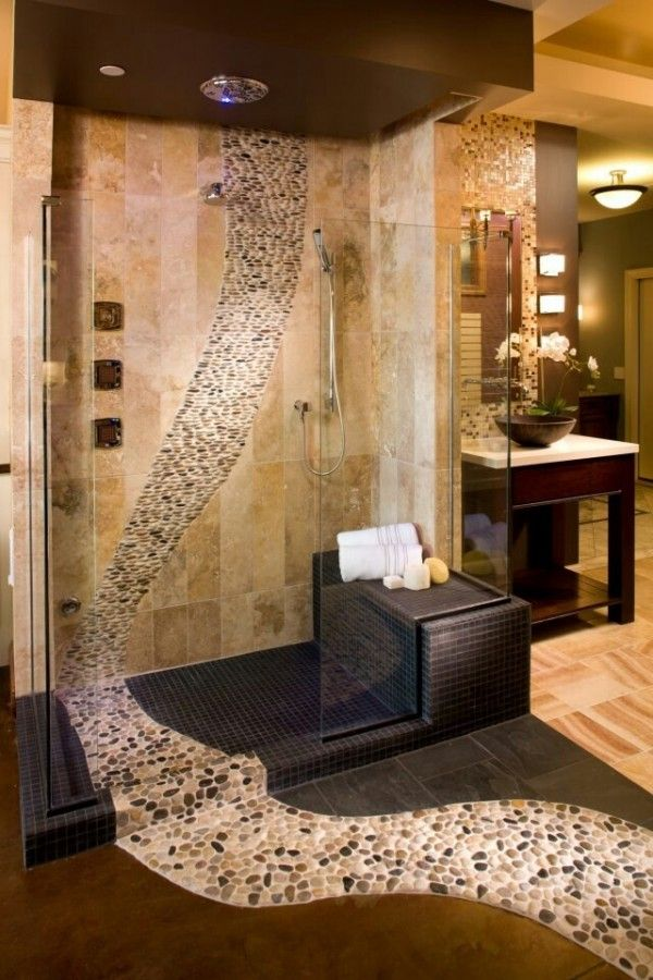 This is so cool!! Love it!!! 65+ Bathroom Tile Ideas | Cuded