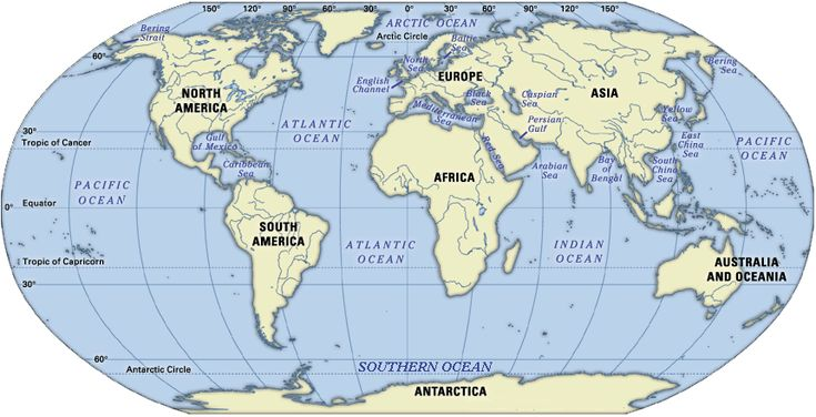 world map world ocean map click the map to enlarge it
