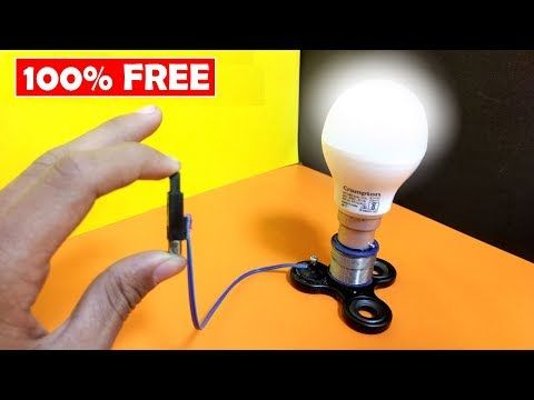 unique free energy light bulb running on fidget spinner_100 free energy the most satisfying video youtube