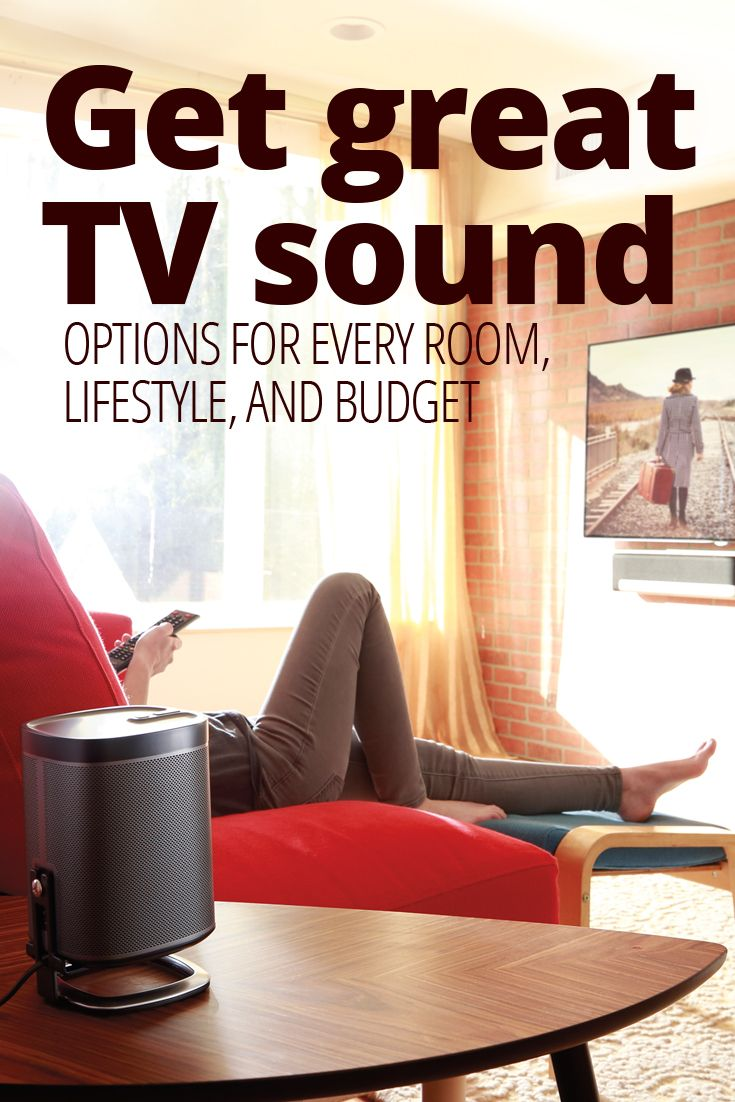 High-definition TVs offer a stunning picture and a vivid sense of realism. But the flat sound that comes from the tiny speakers inside? Not so much.   Here are four ways to enjoy clearer dialogue, better volume, and lifelike special effects. Choices range from simple, space-efficient options to full-blown home theater systems.