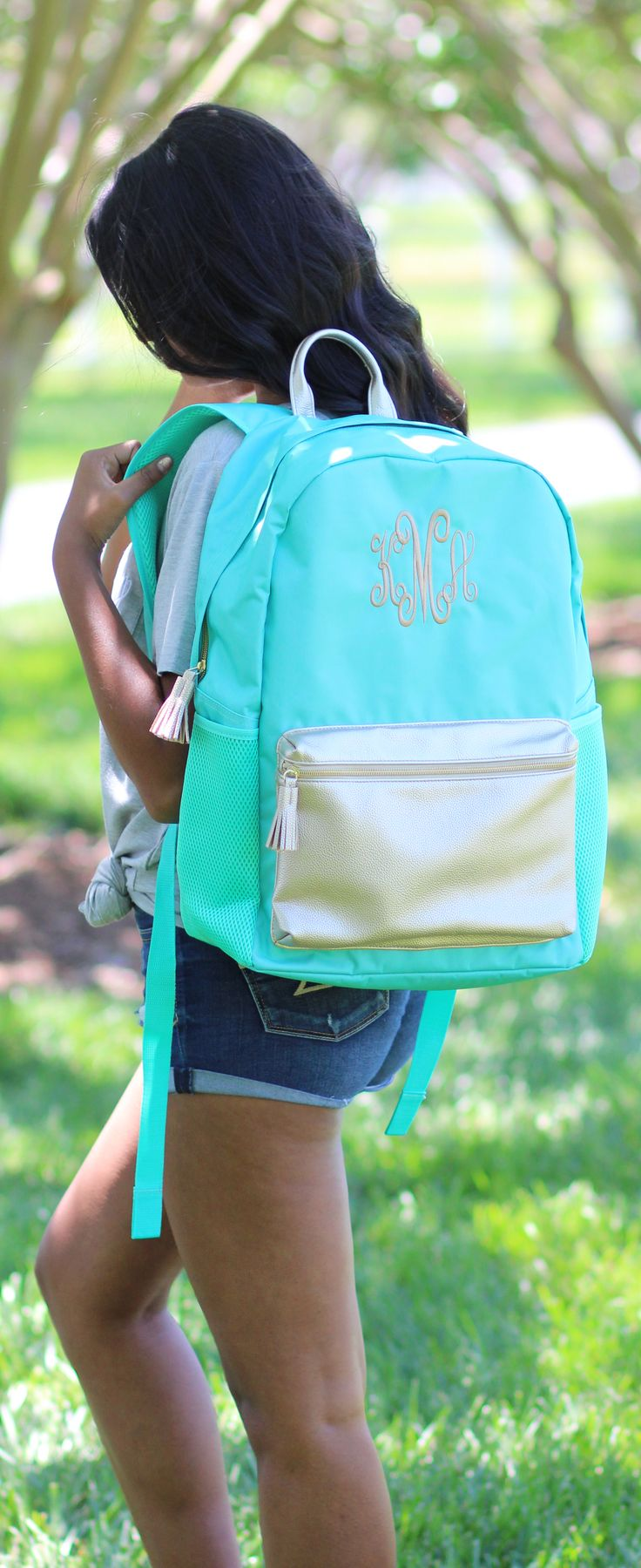 Our adorable Monogrammed Backpack is on #SALE now! Shop the rest of our Watercolor Floral Collection!