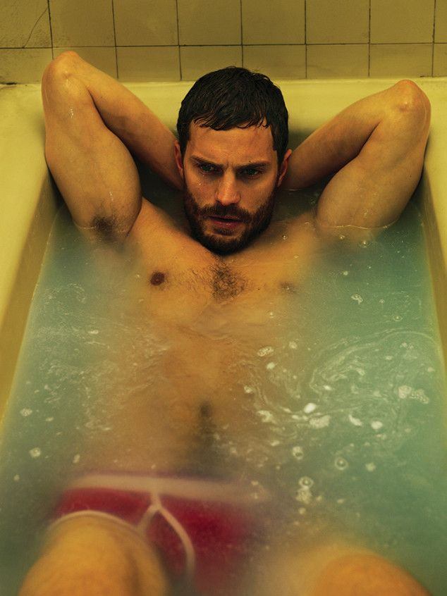 Fifty Shades of Grey star Jamie Dornan takes a sexy dip in the tub. Wow!