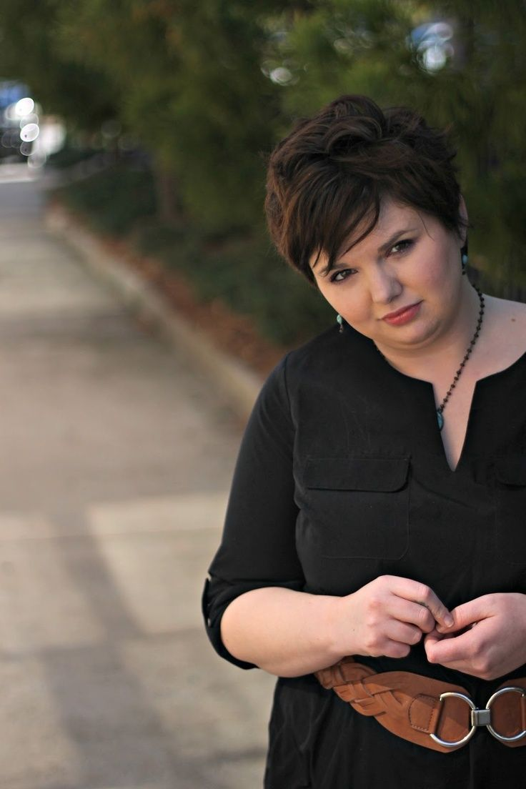 Fashion blog but I love her Hair!! Hems for Her Trendy Plus Size Fashion for Women