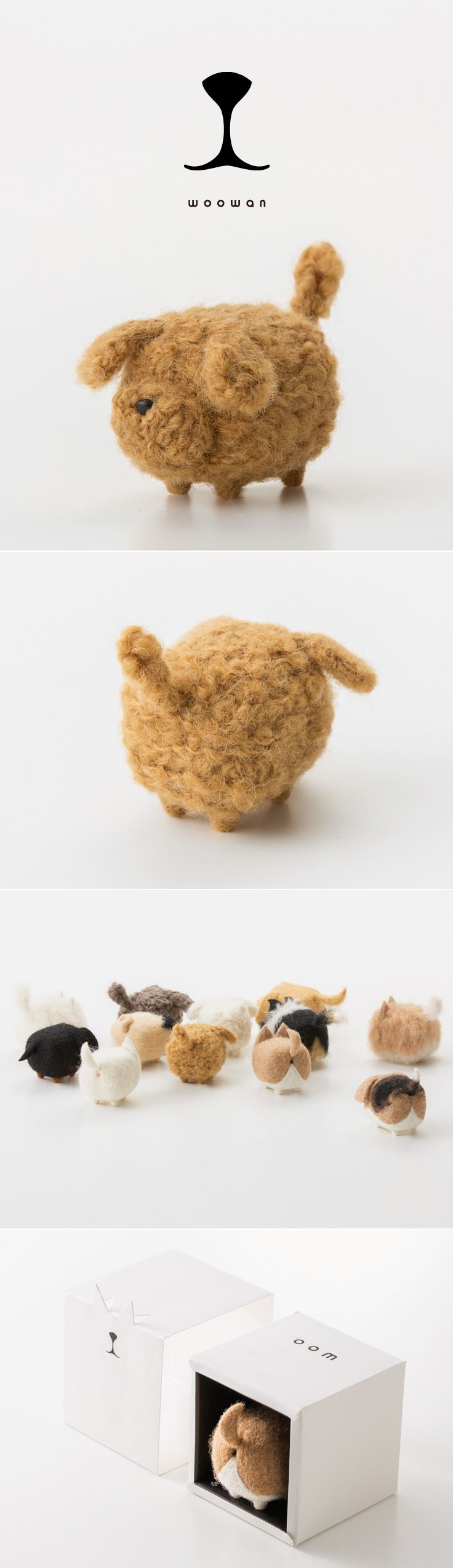 woowan/犬/dog/羊毛フェルト/Needle/Felting/mascot/doll/home/style/products/art/design