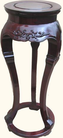 "Oriental Furnishings - 14"" Dia Solid Rosewood Three Legged Asian Plant Stand, $365.00 (http://www.orientalfurnishings.com/14-dia-solid-rosewood-three-legged-asian-plant-stand/)"