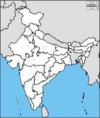 India: free map, free blank map, free outline map, free ...
