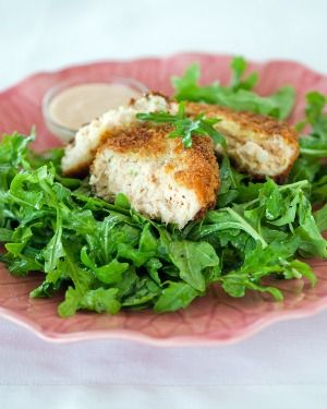 Salmon Patties with Spicy Low-fat Mayonnaise