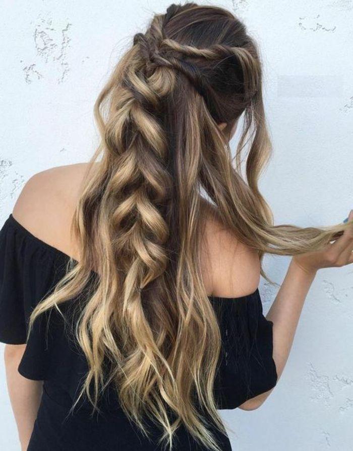 Schone frisuren fur lange haare geflochten