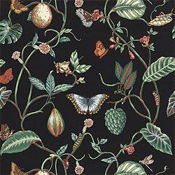Thibaut Spring Lake - Lillian - Wallpaper - Black