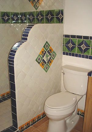 Mexican tile bathroom