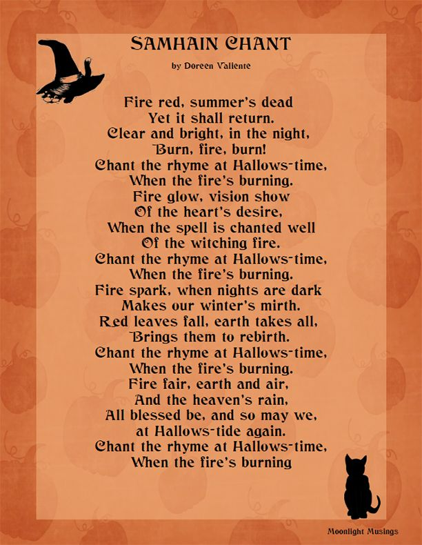 Samhain Chant by Doreen Valiente | This Is Halloween ...