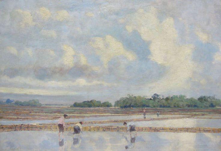 Leo Eland - Arbeiders op de rijstvelden