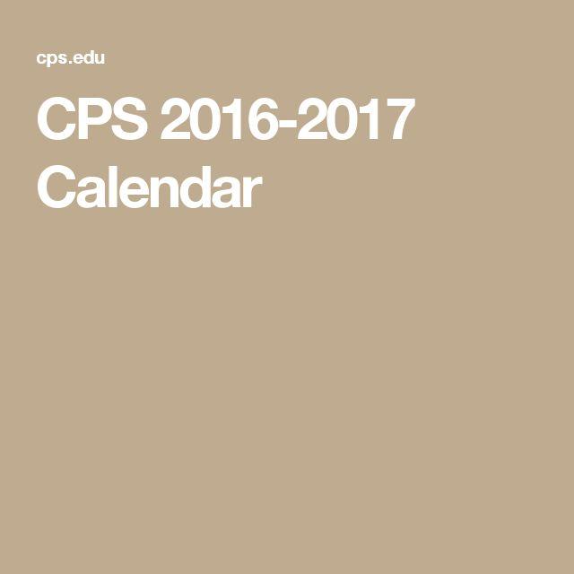 CPS 2016-2017 Calendar