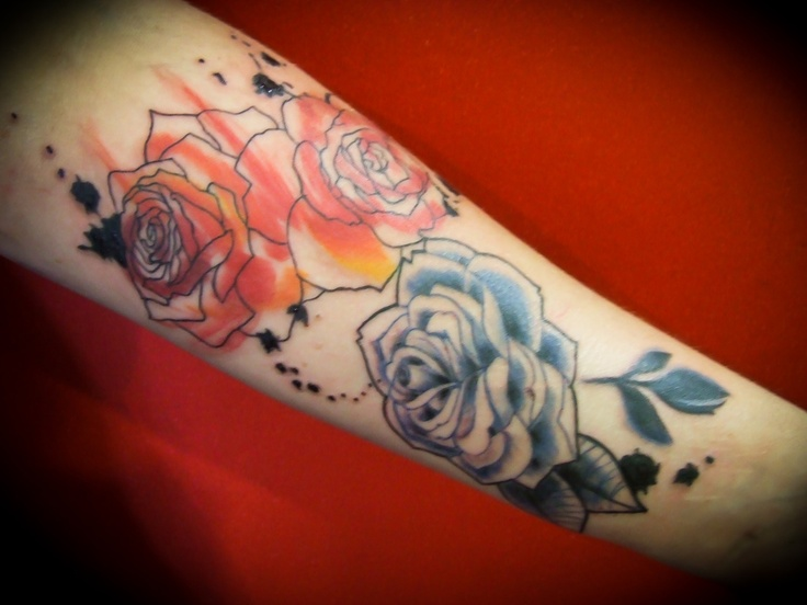 I have a serious thing for tattoos that look painted on. Just beautiful.   – Tattoo