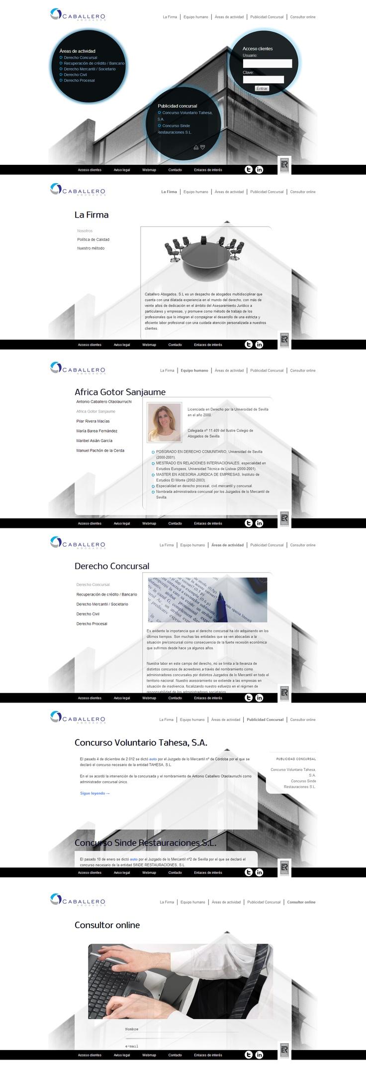 Sizet Experience diseña la nueva web de Caballero Abogados. #webdesign #marketingonline #Sevilla