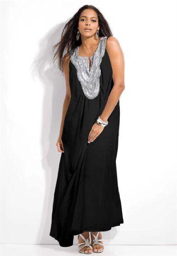 Denim 24/7 Plus Size Ciara Diva Dress (Black,14 W ...