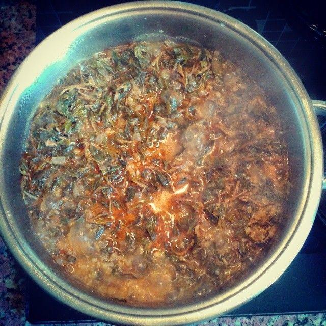 Yozgat yemekleri - Madımak  Kendine has madımak otundan yapılır. Etli ya da etsiz olarak da pişirilir. Yozgat'taki ev yemeklerinin hasıdır. Ekmek banmayı unutmayın.