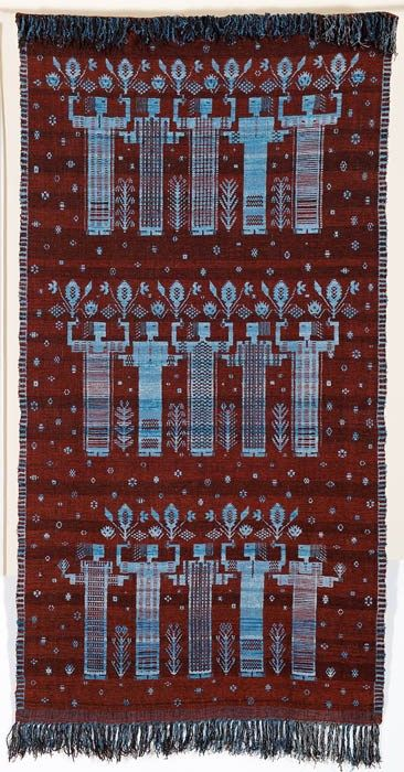 Eleonora Plutyńska, Festival, double-warp textile, 1955, collections of the National Museum in Warsaw, Photo: Michał Korta - photo 4
