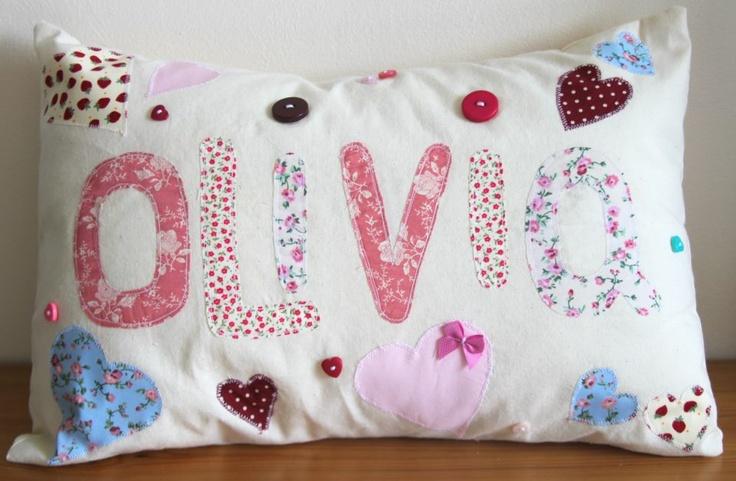 my daughters love heart cushion