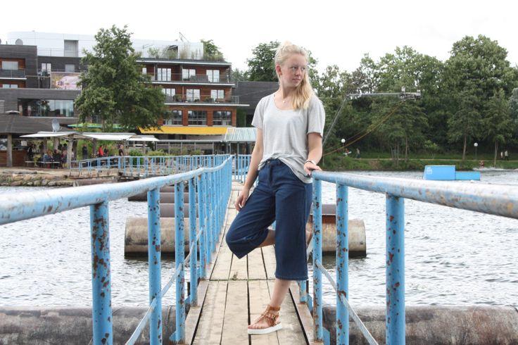 Jeans Culotte X Fransen Sandalen   #fashionblogger #hutliebe #wasserskilangenfeld #ootd  https://hutliebe.wordpress.com