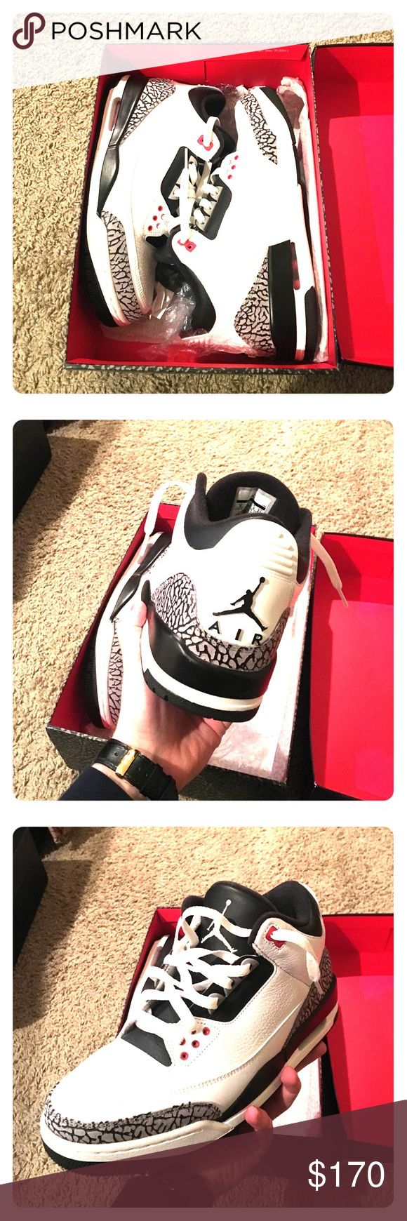 "Jordan 3 ""infrared 23"" Never worn Jordan 3's. Still with box and everything. Jordan Shoes Sneakers"