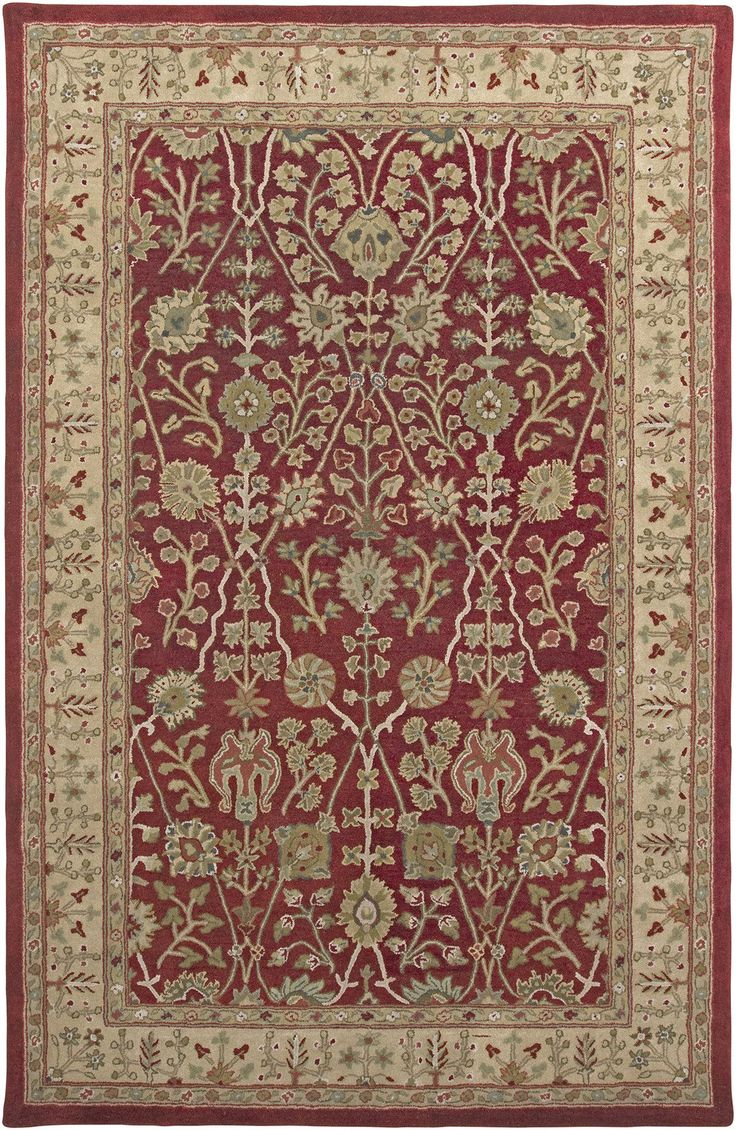 Cardinal red gold benedict area rug rugs red gold and for Red and gold area rugs