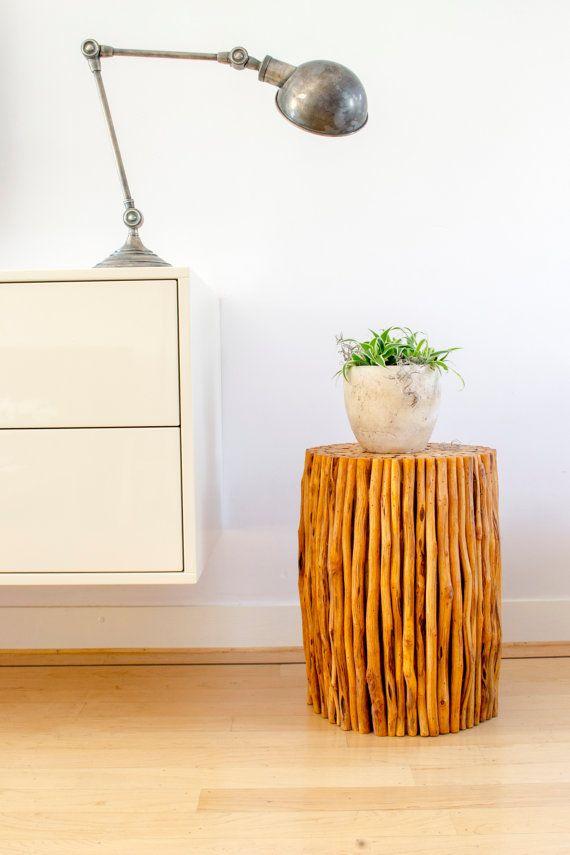 Wood stool / Counter stool / Mango wood by MangoAndMore on Etsy