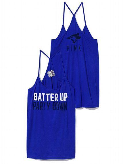 PINK Toronto Blue Jays Skinny Racerback Tank #VictoriasSecret http://www.victoriassecret.com/pink/toronto-blue-jays/toronto-blue-jays-skinny-racerback-tank-pink?ProductID=106288=OLS?cm_mmc=pinterest-_-product-_-x-_-x