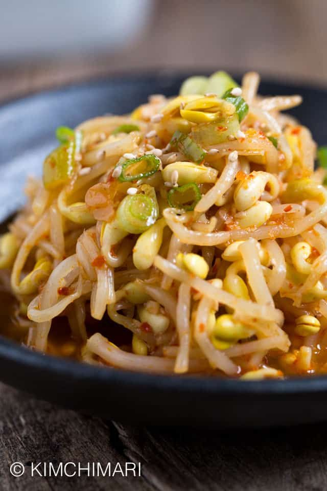 Kongnamul Muchim Korean Soybean Sprouts Recipe Video Seonkyoung Longest Recipe Korean Side Dishes Asian Recipes Korean Food