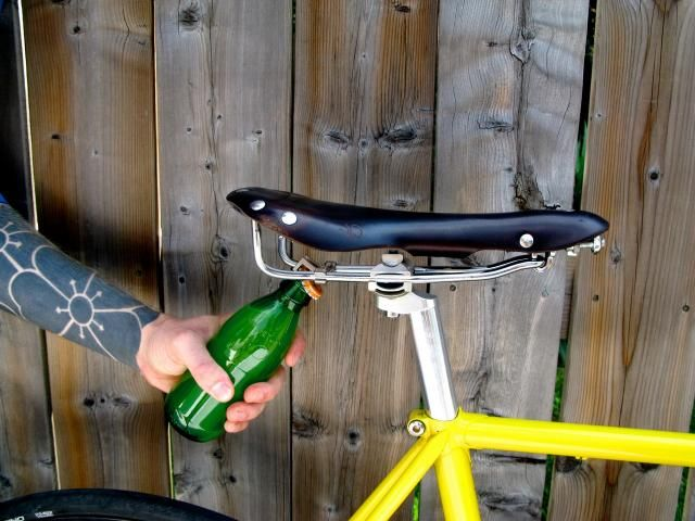 We all need a #bike saddle like this with a bottle opener!