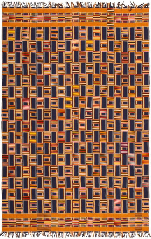 Africa   Kente cloth from the Ewe people of Ghana   ca. early 20th century   Cotton, hand woven