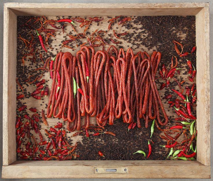 Małe kabanoski o smaku chilli. Możecie też wybrać wersję klasyczną albo z pieprzem. Przekąska idealna:)