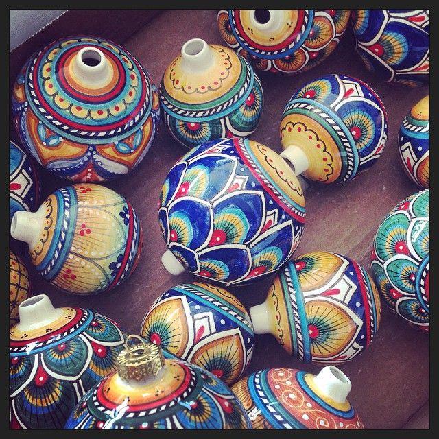 Majolica ornaments