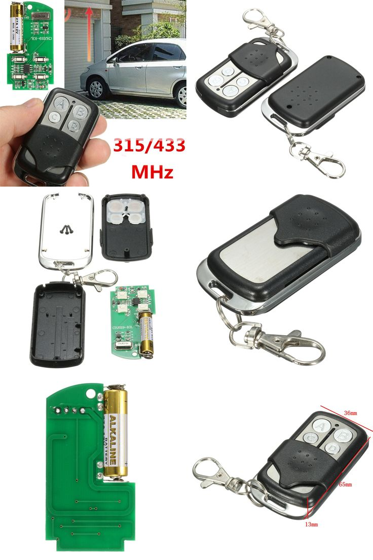 [visit To Buy] Universal 27a 12v 4channel 433 315 Mhz Gate Garage