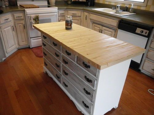 Love The Idea Of A Kitchen Island Made Out Dresser