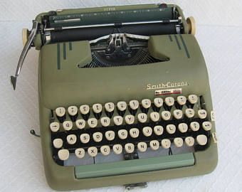 Vintage smith corona typewriter – Etsy