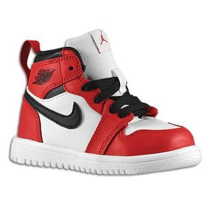 Jordan Retro 1 Hi - Boys' Toddler - Basketball - Shoes - White/Black/Varsity Red