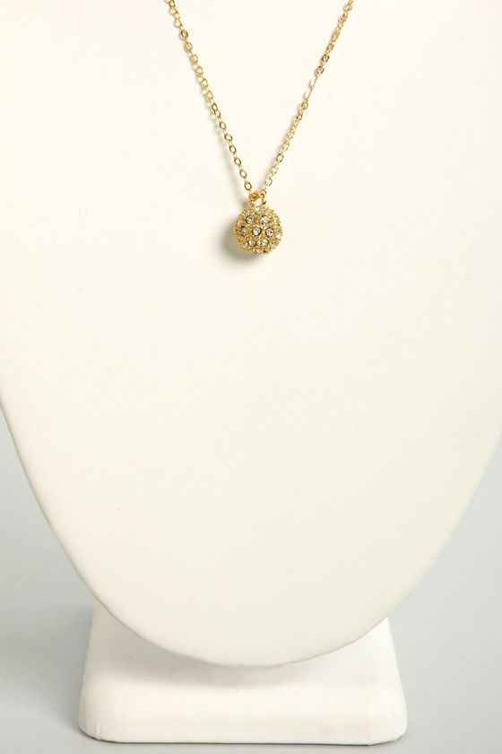 Sphere and Now Gold Necklace at LuLus.com! This little bit of sparkle will add to any outfit without being too over the top.  #lulus #holidaywear
