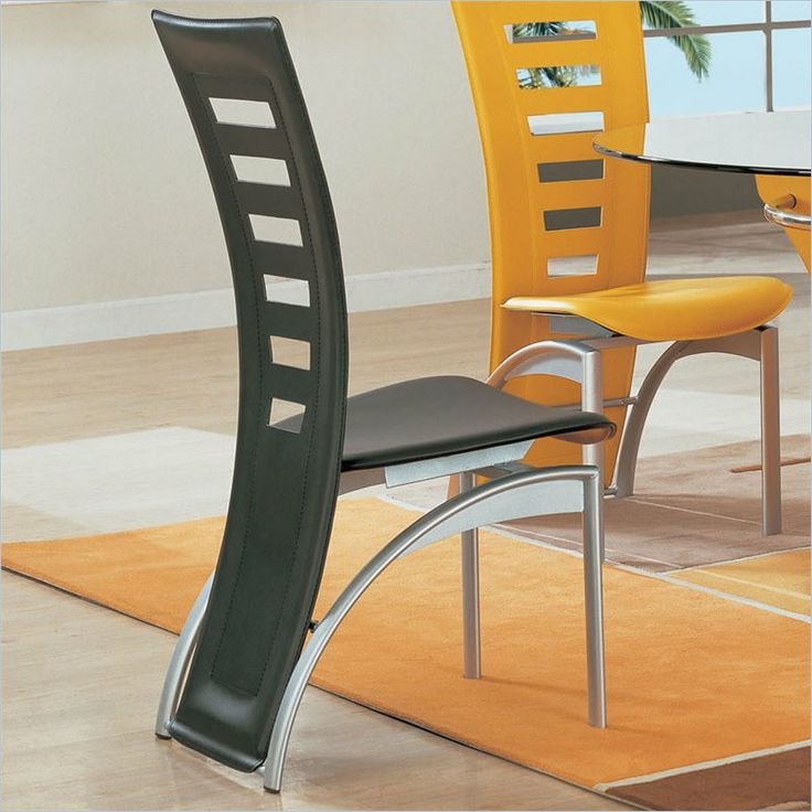 Global Furniture USA Neville Leather Dining Side Chair in Black   D290DC BL    Lowest54 best Chairs images on Pinterest. Dining Table Price In Usa. Home Design Ideas