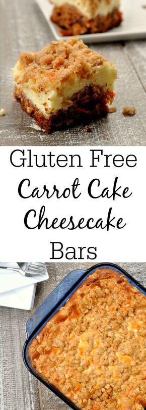 Gluten Free Carrot Cake Cheesecake Bars AD @bobsredmill BobsSpringBaking