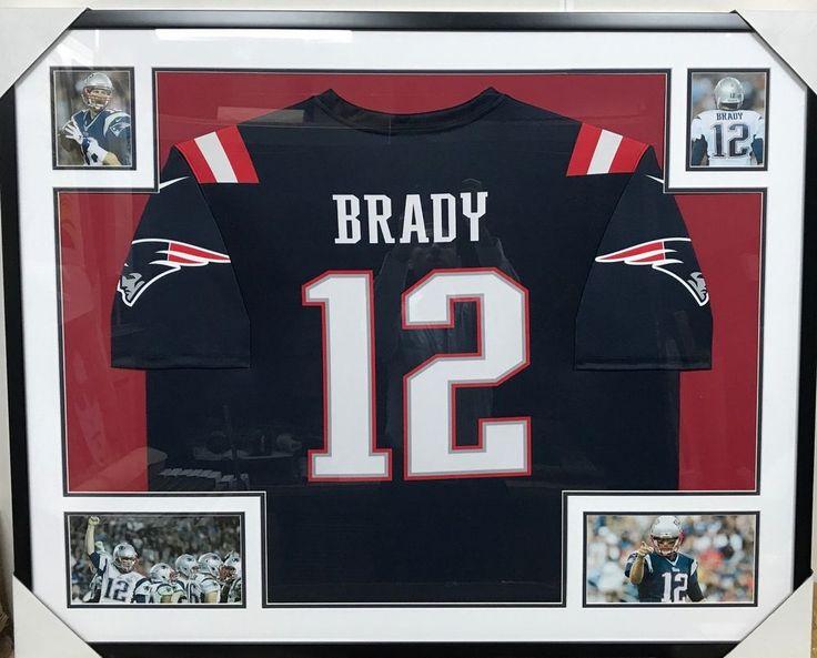 Authentic tom brady 12 jersey memorabilia custom framed