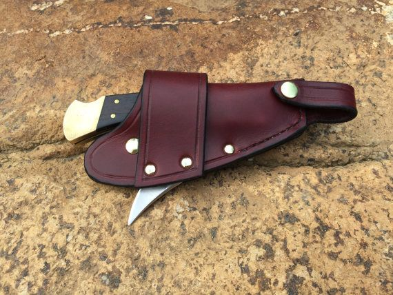 Buck 110 Quick Draw Knife Sheath by HighlandsLeather on Etsy